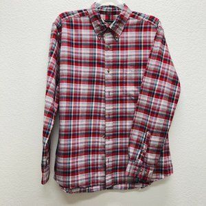 Eddie Bauer Men's Large Relaxed Fit Shirt Plaid